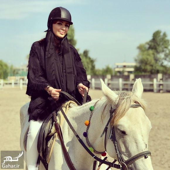 عکسهای اسب سواری خانم مجری, جدید 1400 -گهر