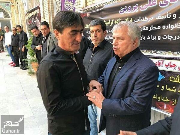 766620 Gahar ir عکسهای حضور ورزشکاران در مراسم ختم برادرزاده علی پروین