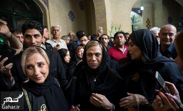826474 Gahar ir عکسهای بازیگران و هنرمندان در مراسم ختم ناصر ملک مطیعی/ 24 عکس