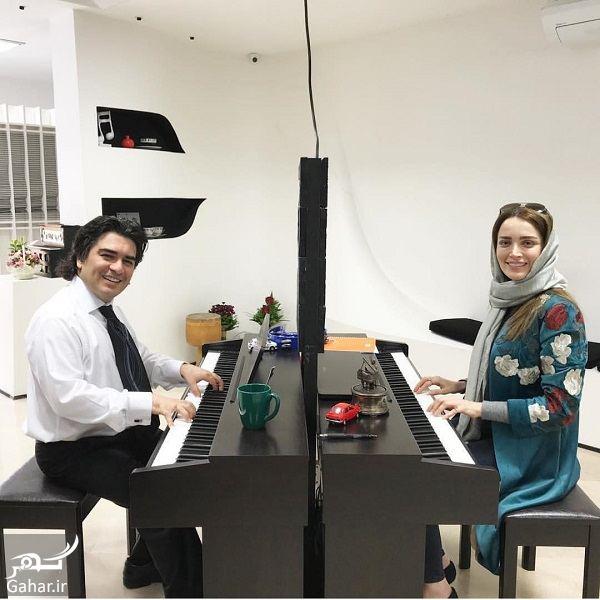 911715 Gahar ir عکس بازیگران زن معروف در حال تمرین پیانو