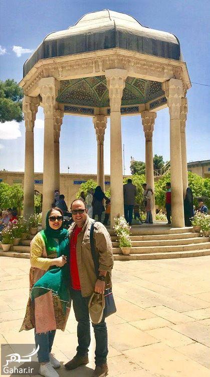 918896 Gahar ir عکس نرگس محمدی و همسرش کنار آرامگاه حافظ