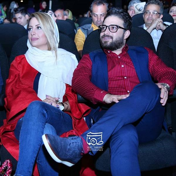 بابک جهانبخش و همسرش در مراسم تجلیل از ژاله علو / ۵ عکس, جدید 99 -گهر