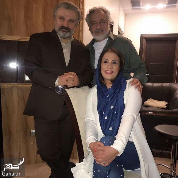 عکس مجید مشیری و همسرش در پشت صحنه سریال پدر, جدید 1400 -گهر