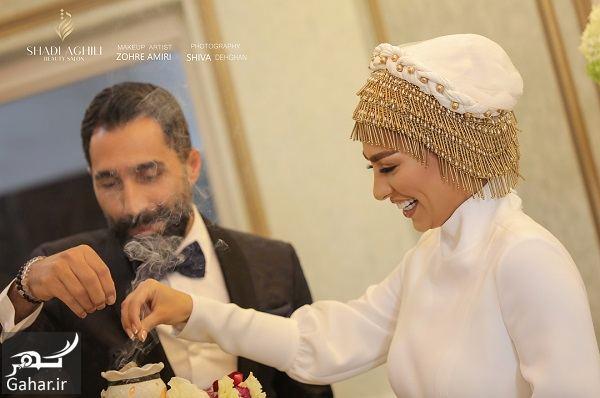 عکسهای جذاب از مراسم ازدواج سمانه پاکدل و هادی کاظمی, جدید 1400 -گهر