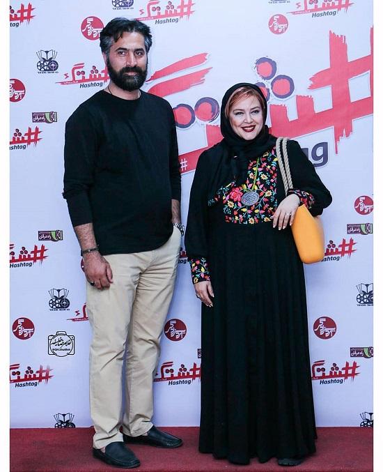 126252 Gahar ir عکسهای بهاره رهنما در اکران فیلم هشتگ به همراه همسرش