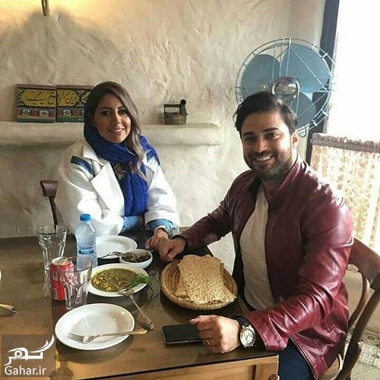 175324 Gahar ir عکس بابک جهانبخش و همسرش در یک رستوران دنج
