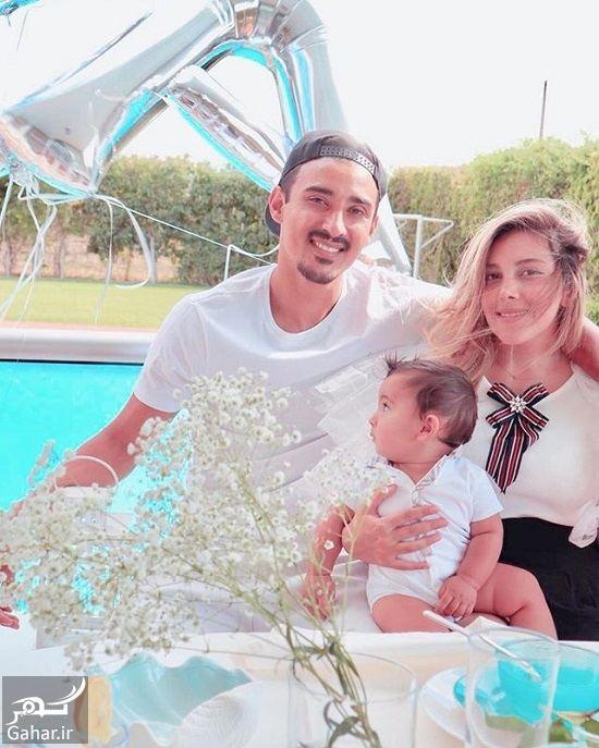 عکس جدید رضا قوچان نژاد و همسر و فرزندش دوران, جدید 1400 -گهر