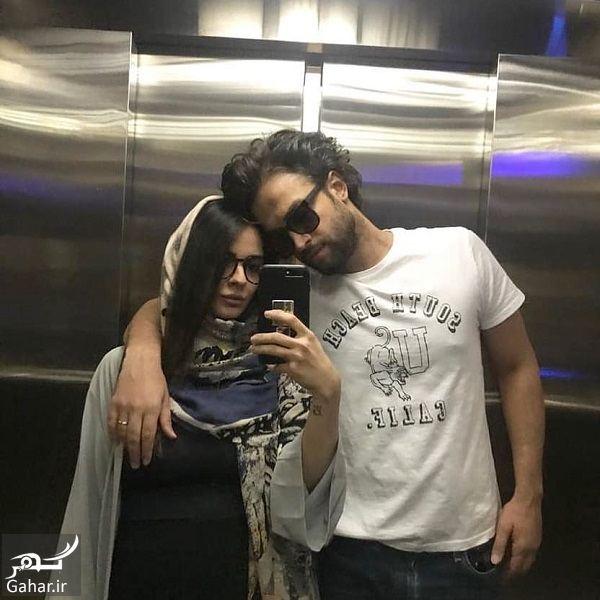 عکس جدید بنیامین و همسرش شایلی در آسانسور, جدید 1400 -گهر