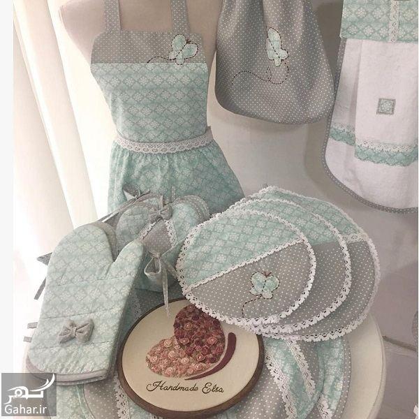 مدل سرویس آشپزخانه پارچه ای عروس بسیار شیک و مدرن, جدید 1400 -گهر