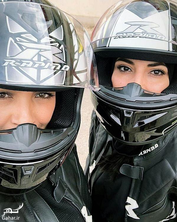 685573 Gahar ir عکسهای بازیگران زن در افتتاحیه پیست موتور سواری بانوان