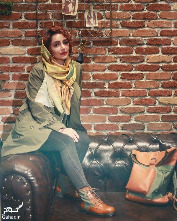 عکس های تبلیغاتی نازنین بیاتی برای برند چرم ایرانی, جدید 1400 -گهر