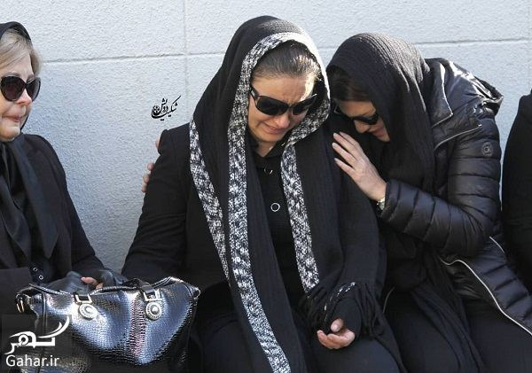168619 Gahar ir عکسهای مراسم خاکسپاری پیام صابری همسر زیبا بروفه