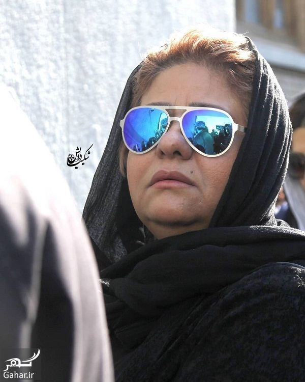 242985 Gahar ir عکسهای مراسم خاکسپاری پیام صابری همسر زیبا بروفه