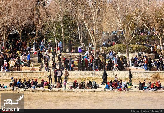 019297 Gahar ir عکسهای زیبا از شور و شوق مردم اصفهان کنار زاینده رود بهمن 97