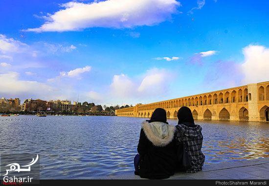 082561 Gahar ir عکسهای زیبا از شور و شوق مردم اصفهان کنار زاینده رود بهمن 97