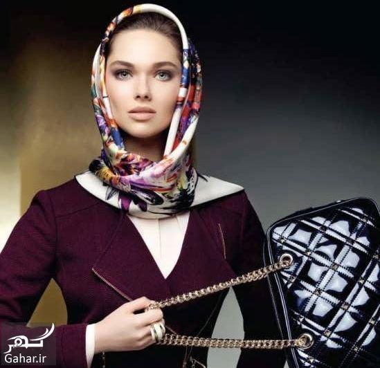 روش بستن روسری ساتن, جدید 1400 -گهر