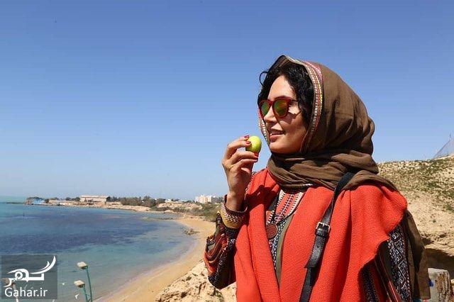 عکسهای دیدنی الناز شاکردوست کنار خلیج فارس, جدید 1400 -گهر