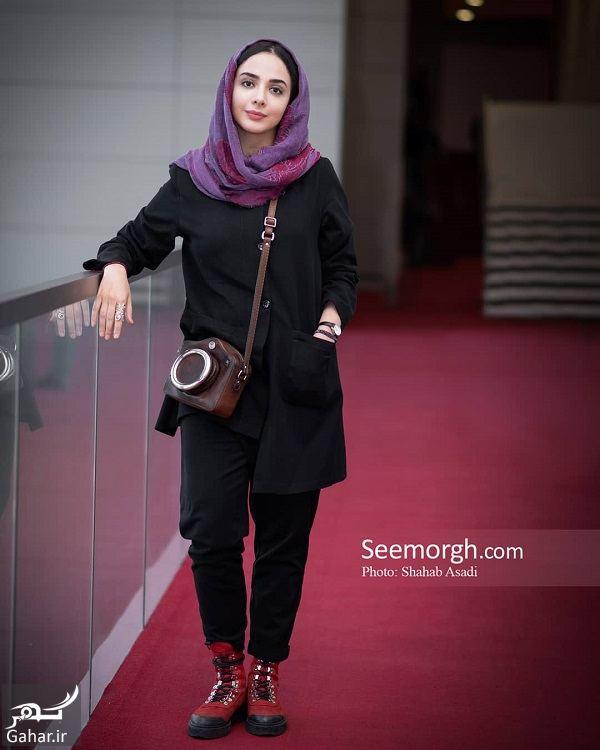 402525 Gahar ir استایل المیرا دهقانی در جشنواره جهانی فجر 98 / 4 عکس