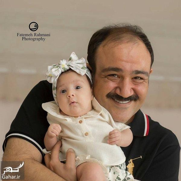 عکسهای آتلیه ای مهران غفوریان و همسر و دخترش, جدید 1400 -گهر
