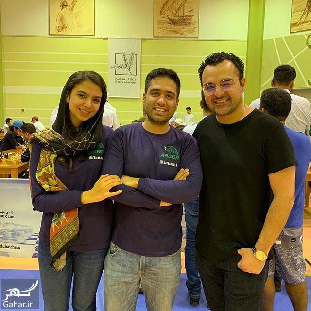 585413 Gahar ir عکس سارا خادم الشریعه و همسرش بعد از قهرمانی