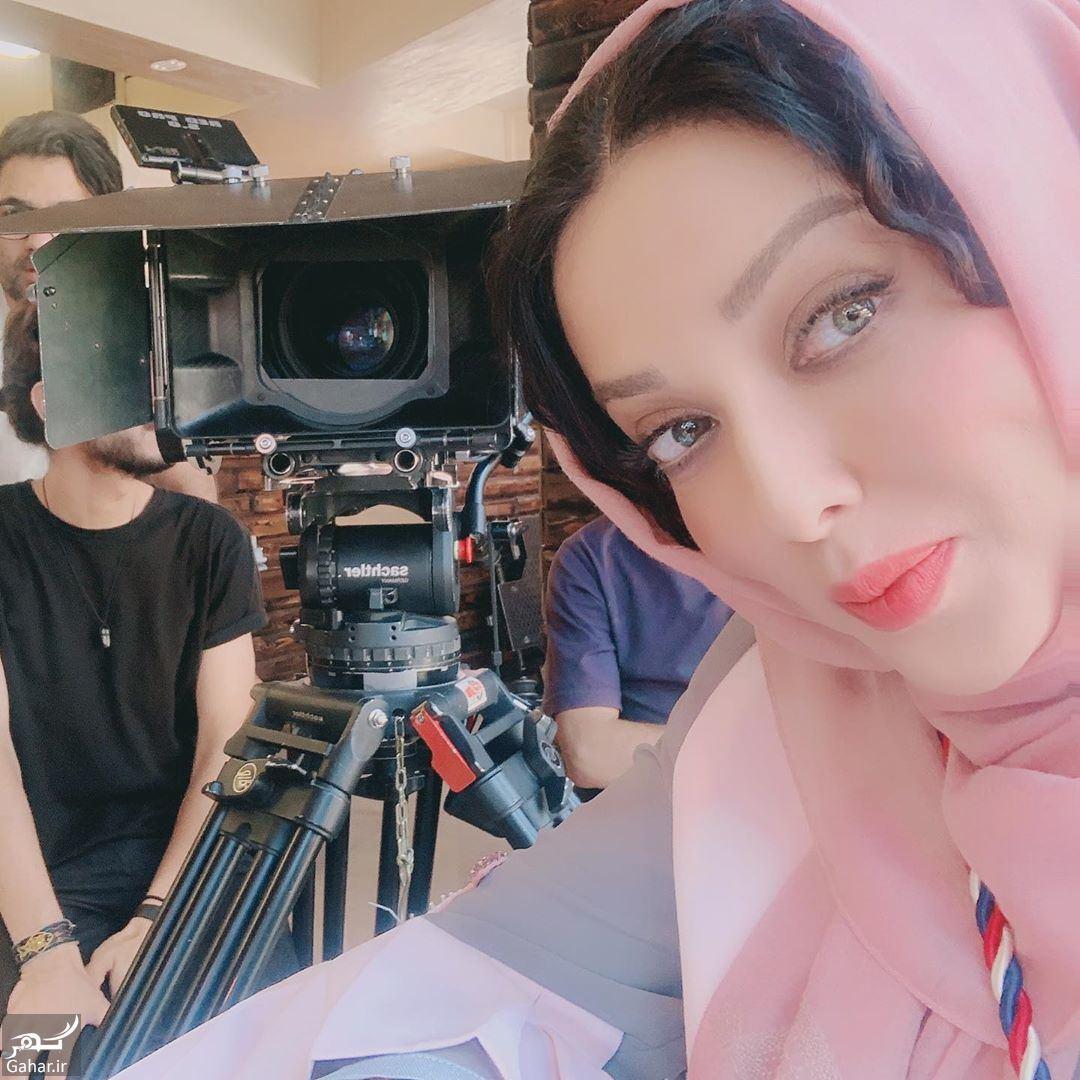عکسهای شیطونی یواشکی لیلا اوتادی در پشت صحنه فیلم جدیدش!, جدید 1400 -گهر
