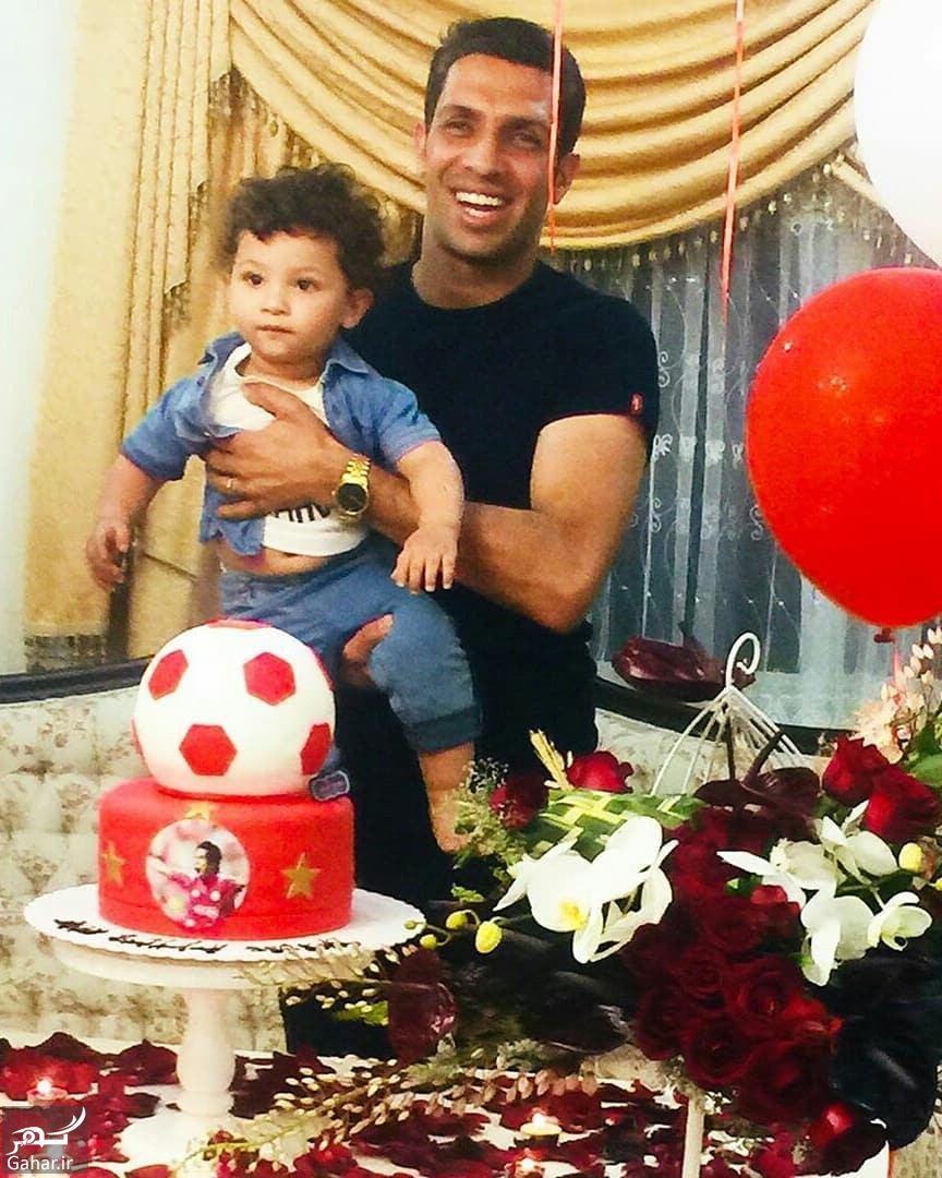 عکسهای جشن تولد سپهر حیدری همراه همسر و پسرش, جدید 1400 -گهر