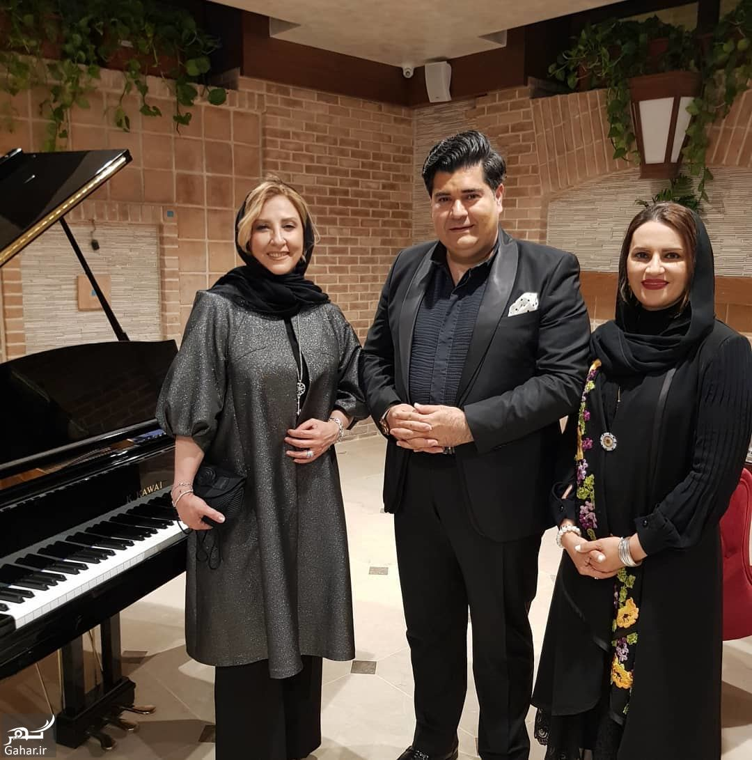 مرجانه گلچین و سالار عقیلی و همسرش در افتتاحیه هتل کاخ کرمان, جدید 1400 -گهر