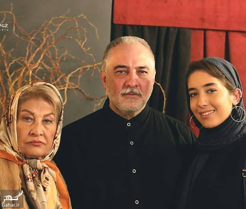 ایرج نوذری کنار مادر و دخترش / عکس, جدید 1400 -گهر