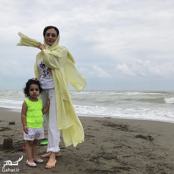 عکس جدید یکتا ناصر و دخترش لب دریا, جدید 1400 -گهر