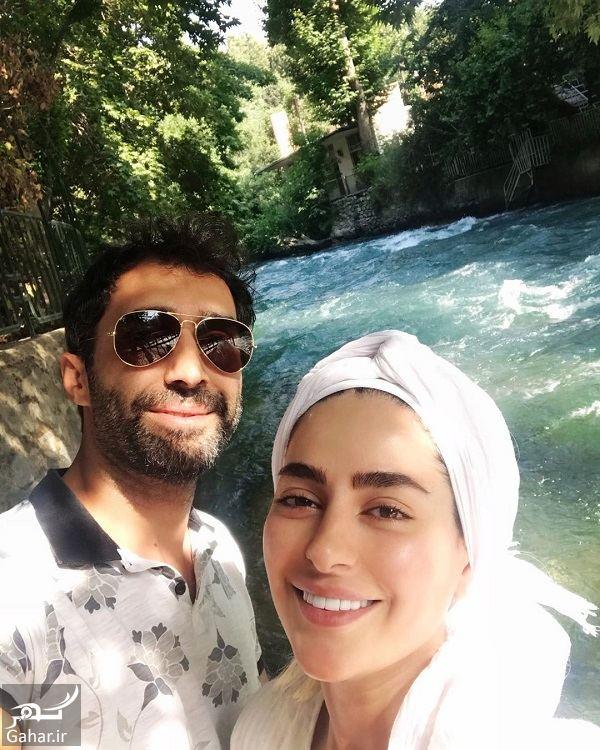 عکسهایی از تفریحات سمانه پاکدل و همسرش, جدید 1400 -گهر