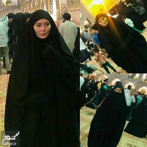 عکس با حجاب سحر قریشی در حرم امام رضا (ع), جدید 1400 -گهر