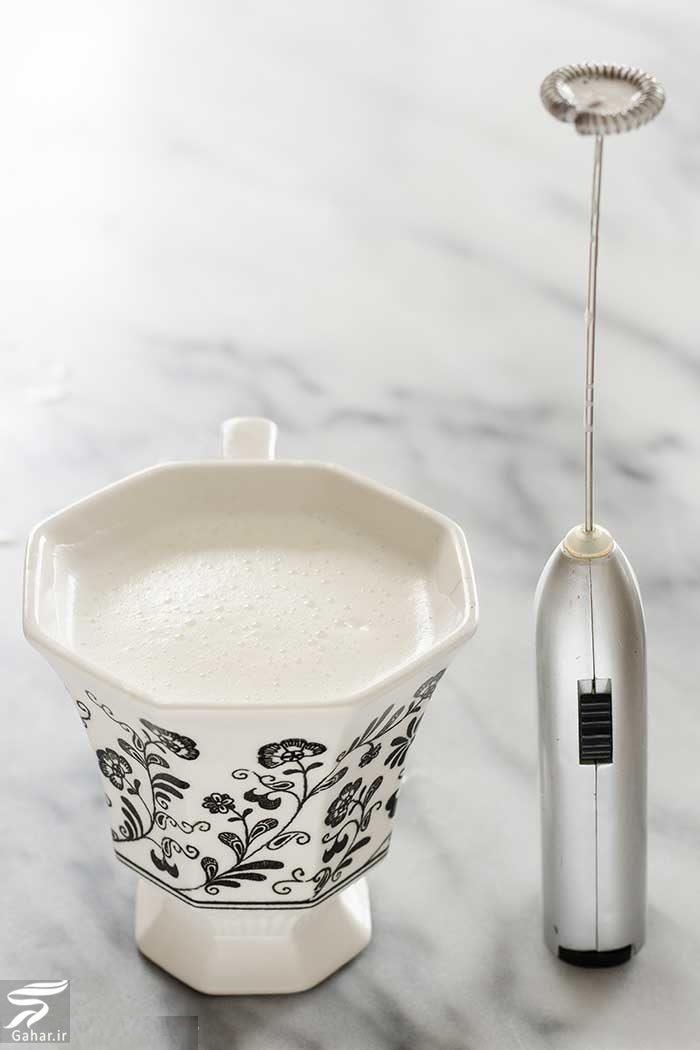 قهوه با کف شیر (تزیین روی قهوه با شیر), جدید 1400 -گهر