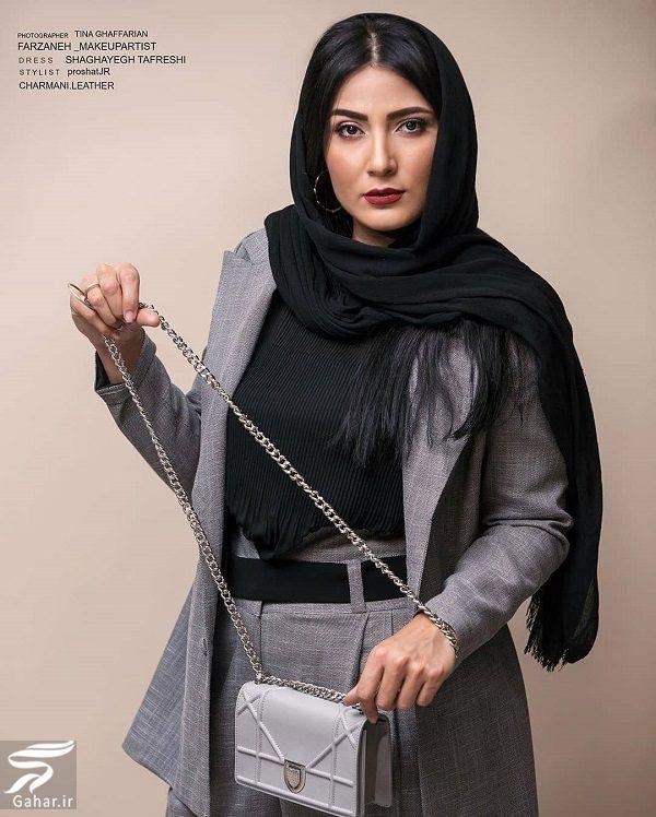 عکسهای آتلیه سمیرا حسن پور با کت و شلوار, جدید 1400 -گهر