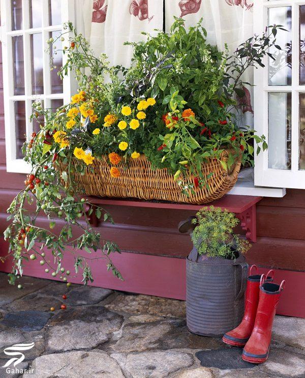 144478 Gahar ir 11 پیشنهاد جذاب برای گل کاری گلدان جلوی تراس و پنجره