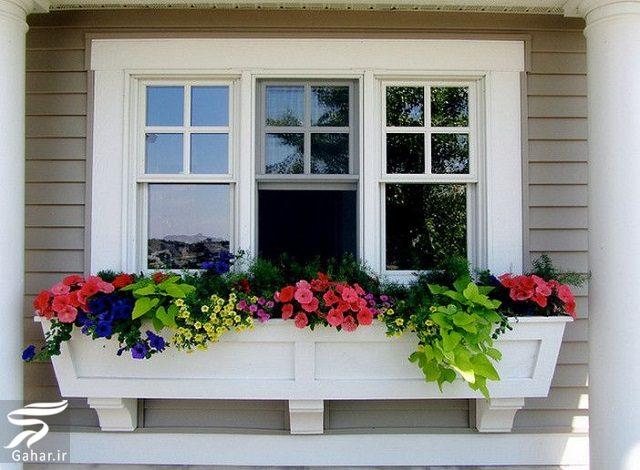 511044 Gahar ir 11 پیشنهاد جذاب برای گل کاری گلدان جلوی تراس و پنجره