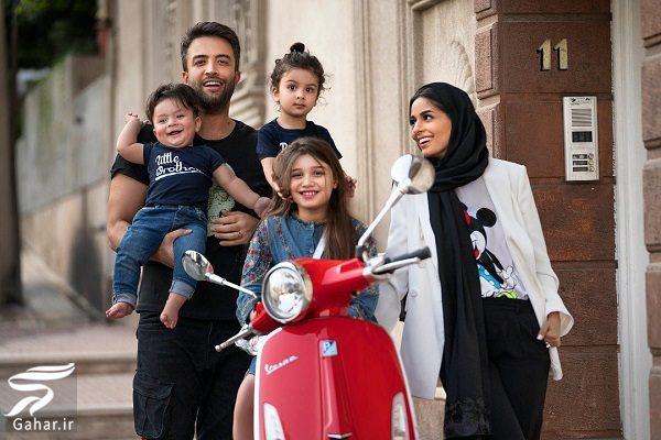 800199 Gahar ir عکس دیدنی بنیامین به همراه همسر و سه فرزندانش