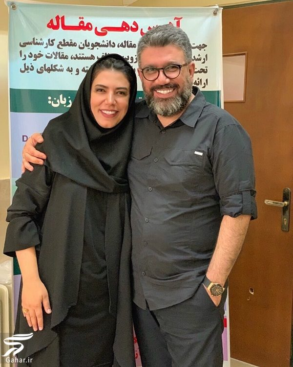 958737 Gahar ir رضا رشیدپور در دفاع پایان نامه خواهرش / عکس