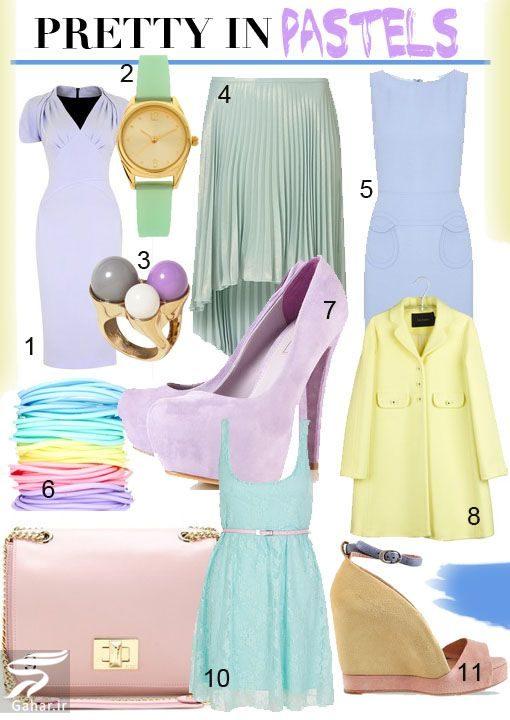 079197 Gahar ir رنگ پاستلی چیست؟ نحوه ست کردن رنگ های پاستلی