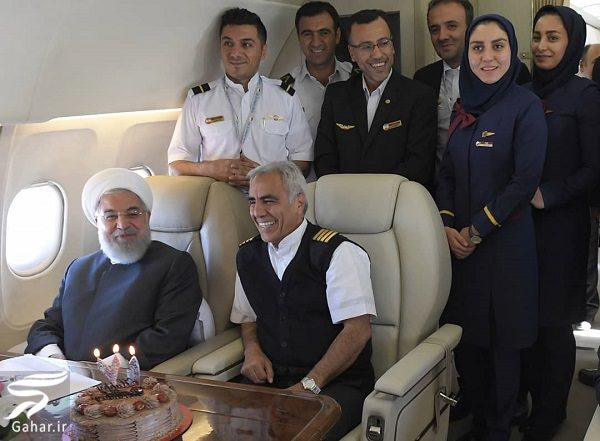 205018 Gahar ir عکسهای جشن تولد روحانی در هواپیما !