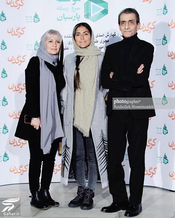 209020 Gahar ir هدی زین العابدین در کنار پدر و خواهرش در اکران کرگدن / 5 عکس