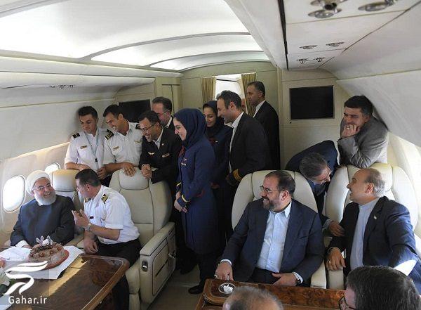 297437 Gahar ir عکسهای جشن تولد روحانی در هواپیما !