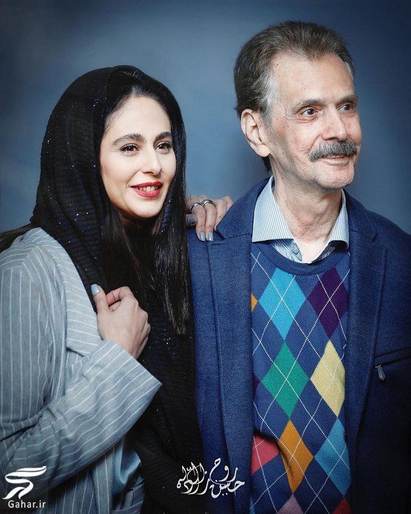 عکسهای رعنا آزادی ور و پدرش در نمایشگاه مهدی پاکدل, جدید 1400 -گهر