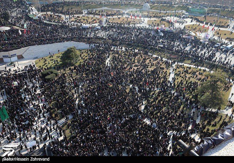 026366 Gahar ir عکسهای مراسم تشییع سردار سلیمانی با حضور باشکوه مردم