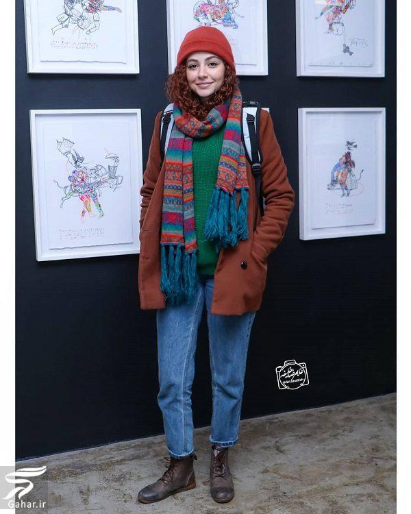 212245 Gahar ir تیپ زمستانی مهتاب ثروتی و فرشته حسینی در نمایشگاه نقاشی