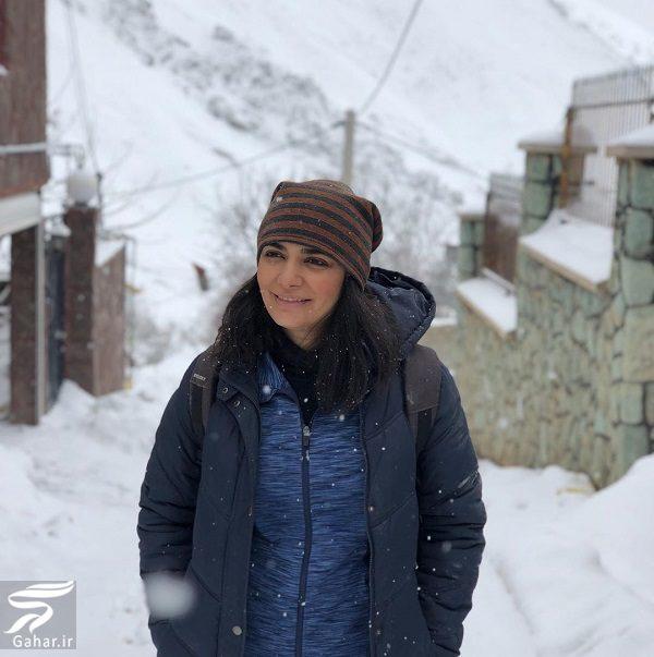 347945 Gahar ir عکسهای برفی لیندا کیانی در زمستان 98