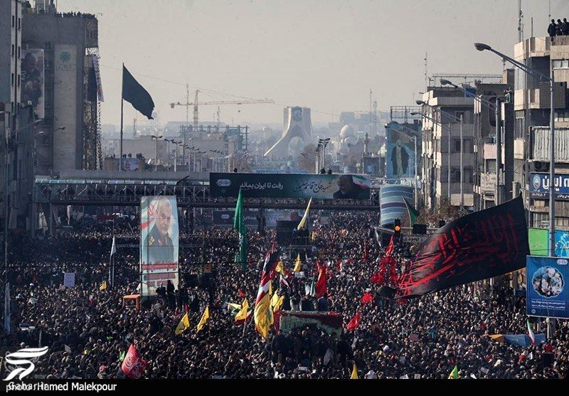 389252 Gahar ir عکسهای مراسم تشییع سردار سلیمانی با حضور باشکوه مردم