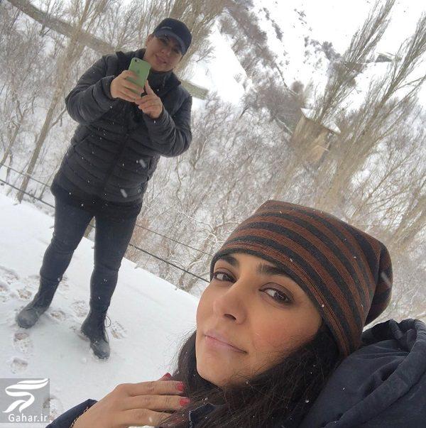 550766 Gahar ir عکسهای برفی لیندا کیانی در زمستان 98