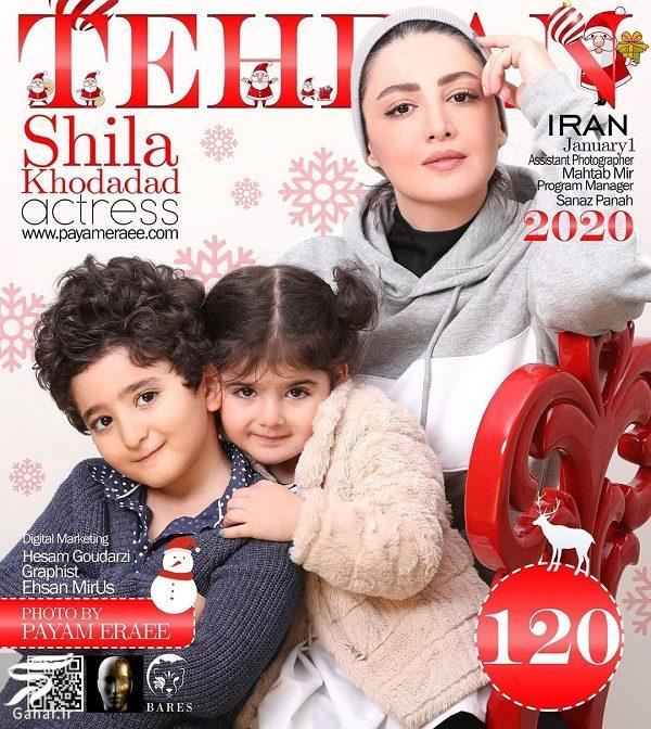 845206 Gahar ir عکس کریسمسی شیلا خداداد و دختر و پسرش