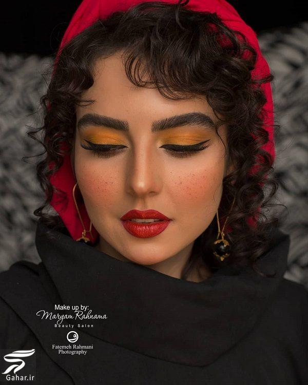 096814 Gahar ir تصاویری از میکاپ متفاوت سارا محمدی خواهر نرگس محمدی