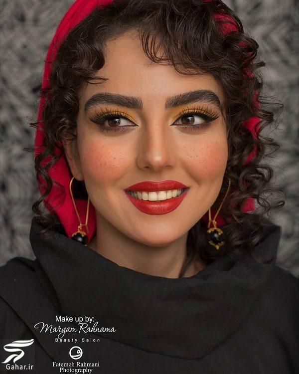 639838 Gahar ir تصاویری از میکاپ متفاوت سارا محمدی خواهر نرگس محمدی